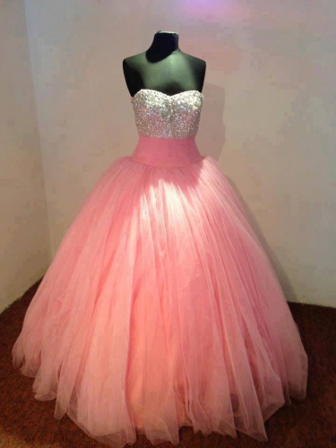 Feel like a Disney Princess in Gorgeous Pink Prom Dresses