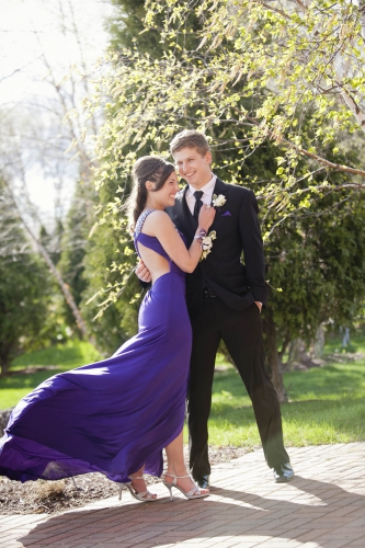 purple backless evening dress